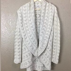 Cabi White Circle Knit Cardigan Style 720 White